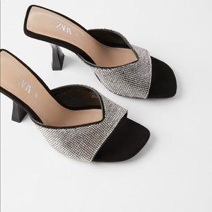 ZARA Beaded Heeled Sandals